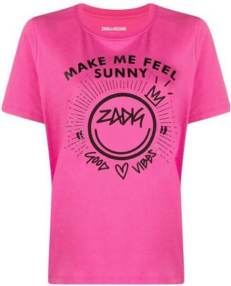 Zadig & Voltaire slogan-print cotton T-shirt
