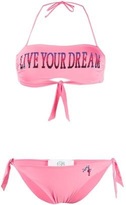 Alberta Ferretti printed bandeau bikini