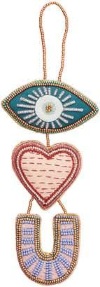Anthropologie Home Eye Heart You Ornament