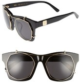 MCM Women's 50Mm Retro Sunglasses - Black/ Shiny Gold