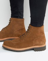 Grenson Grover Suede Laceup Boot