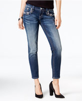 Miss Me Embellished Dark Blue Wash Ankle Jeans