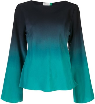 Rixo Ombre Bell Sleeve Blouse