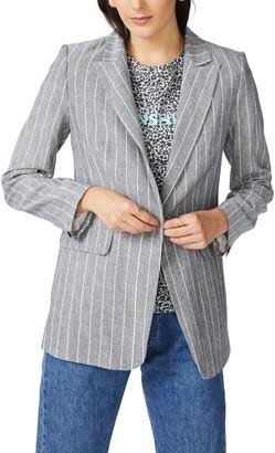 Court & Rowe Pinstripe One-Button Blazer