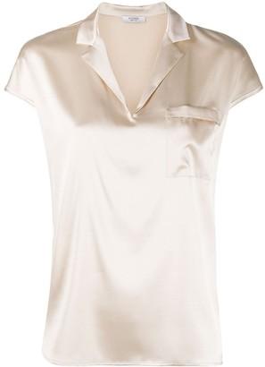Peserico Open-Collar Blouse
