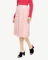 Ann Taylor Half Moon Clip Full Skirt