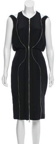 Cushnie et Ochs Zipper-Accented Sleeveless Dress