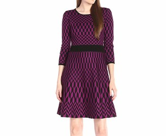 Taylor Dresses Women's Geo Print Sweater Dress