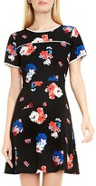 Vince Camuto Floral Print Fit-and-Flare Dress