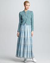 Giorgio Armani Kaleidoscope-Print Tiered Maxi Skirt