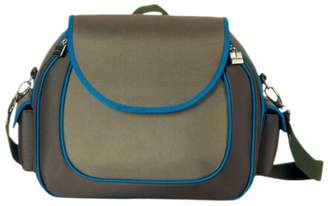 Little Company Hard Shell Shoulder Bag in Olive with Malibu Blue