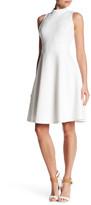 Nine West Sleeveless Mock Neck Fit & Flare Dress