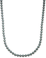 Charter Club Silver-Tone Long Gray Imitation Pearl Strand Necklace, Only at Macy's