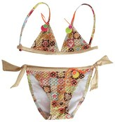 Pate De Sable Gold Printed Bikini