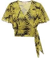 Diane von Furstenberg Flutter cotton and silk crop top