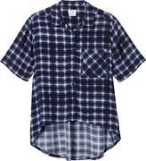 RVCA Juniors New Fellow Hi Low Plaid Shirt
