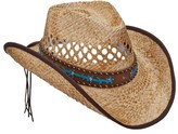Scala Women's LR693 Pinch Cowboy Hat with Overlay