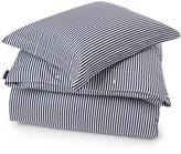 Lexington Company Lexington Sateen Stripe Flat Sheet Blue/White 180x290cm