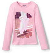 Classic Girls Roll-Neck Embellished Graphic Knit Tee-Ballet Slippers