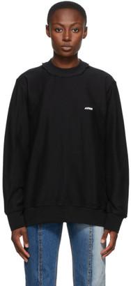 Ader Error Black Regular Fit Logo Long Sleeve T-Shirt