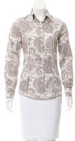 Etro Paisley Button-Up Top