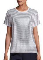 Vince Striped Pima Cotton T-Shirt