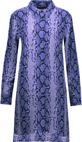 Equipment Kerry snake-print washed-silk mini dress