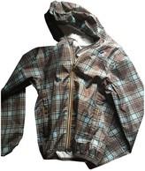 K-Way Ecru Leather Jacket for Women