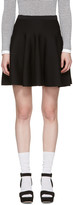 Carven Black Knit Miniskirt