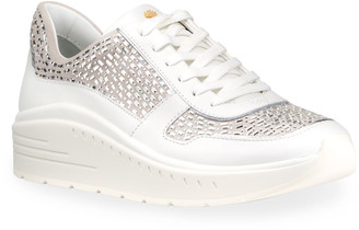 Stuart Weitzman Christa Embellished Fashion Sneakers