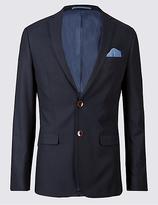 M&S Collection Pure Cotton Slim Fit Jacket
