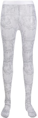 Wolford Antoinette abstract print tights