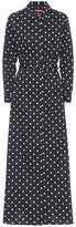 STAUD Daisy polka-dot cotton maxi dress