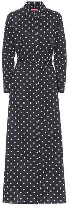 STAUD Daisy polka-dot cotton maxi dress