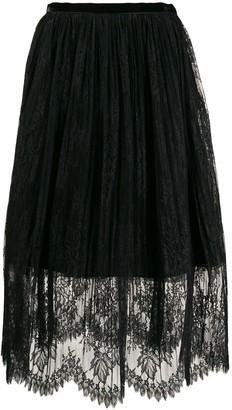 VIVETTA Layered Lace Skirt