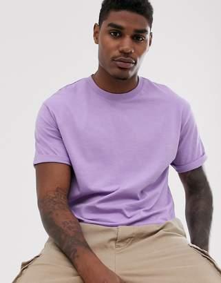 Bershka Join Life Organic Cotton loose fit t-shirt in purple
