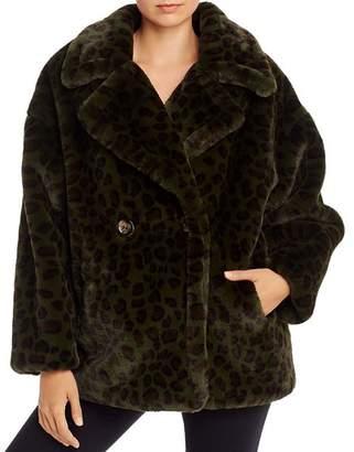 Apparis Amelia Animal-Print Faux-Fur Coat