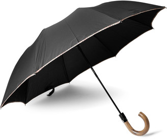Paul Smith Contrast-Tipped Wood-Handle Umbrella