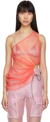Supriya Lele SSENSE Exclusive Pink Mesh Tank Top