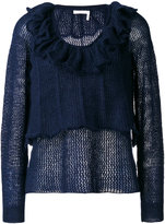 See by Chloe ruffle neck sweater - women - Polyamide/Mohair/Wool - XS