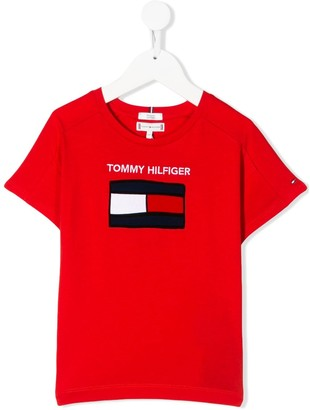 Tommy Hilfiger Junior logo embroidered T-shirt