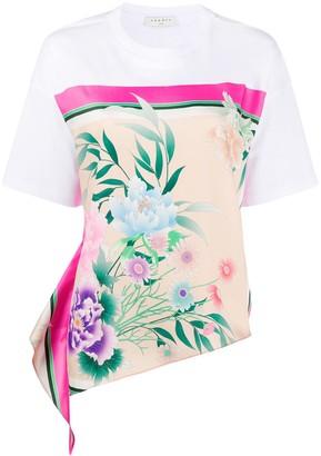 Sandro Paris floral-print side-tie T-shirt
