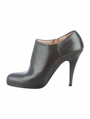 Prada Leather Boots Grey