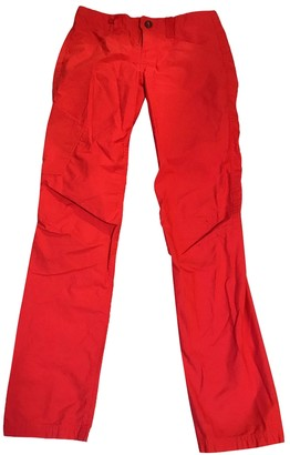 Patagonia Red Cotton Trousers