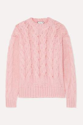 Paul & Joe Cable-knit Mohair-blend Sweater - Pink