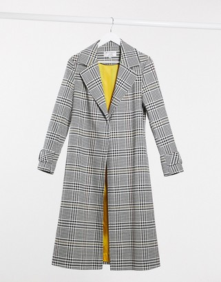 Helene Berman long ruth in houndstooth check