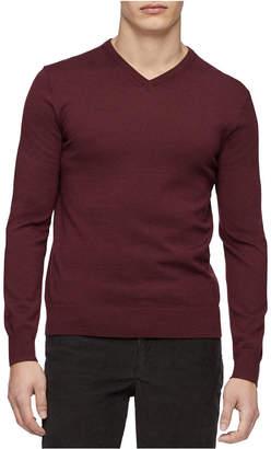 Calvin Klein Men Merino Wool V-Neck Sweater