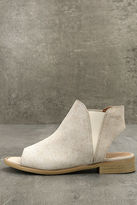 Coolway Musse & Cloud Ciara White Leather Peep-Toe Booties