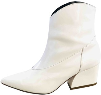 Tibi White Patent leather Ankle boots