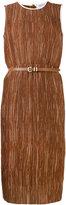 Max Mara textured belted dress - women - Polyester/Spandex/Elastane/Cupro - 42